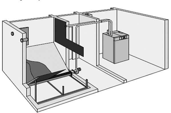 Vitoligno 300-C бункер шнек шнеко-пневматична подача пелет