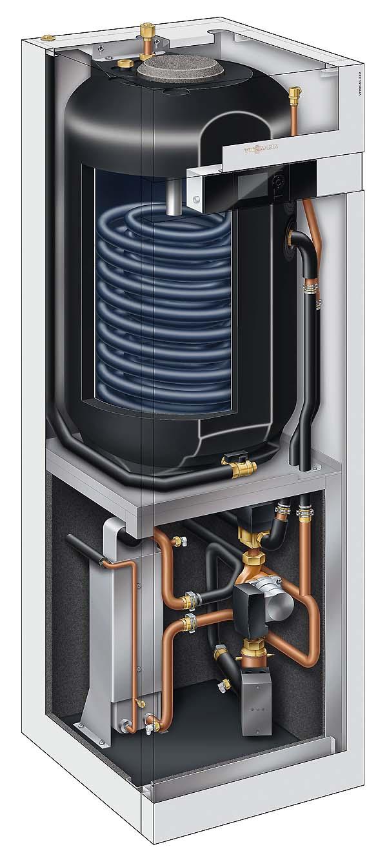 Тепловий насос Viessmann Vitocal 222-S повітря-вода з водонагрівачем