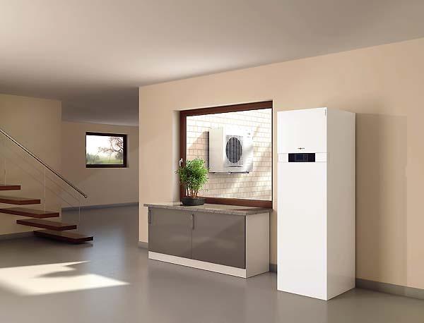 Тепловий насос Viessmann Vitocal 242-S повітря-вода з водонагрівачем 220 л з можливістю використання сонячних колекторів