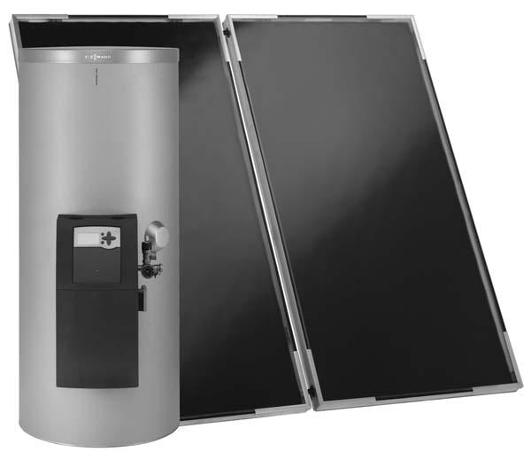 Сонячні колектори Viessmann Vitosol 200-F пакетні пропозиції SK03485