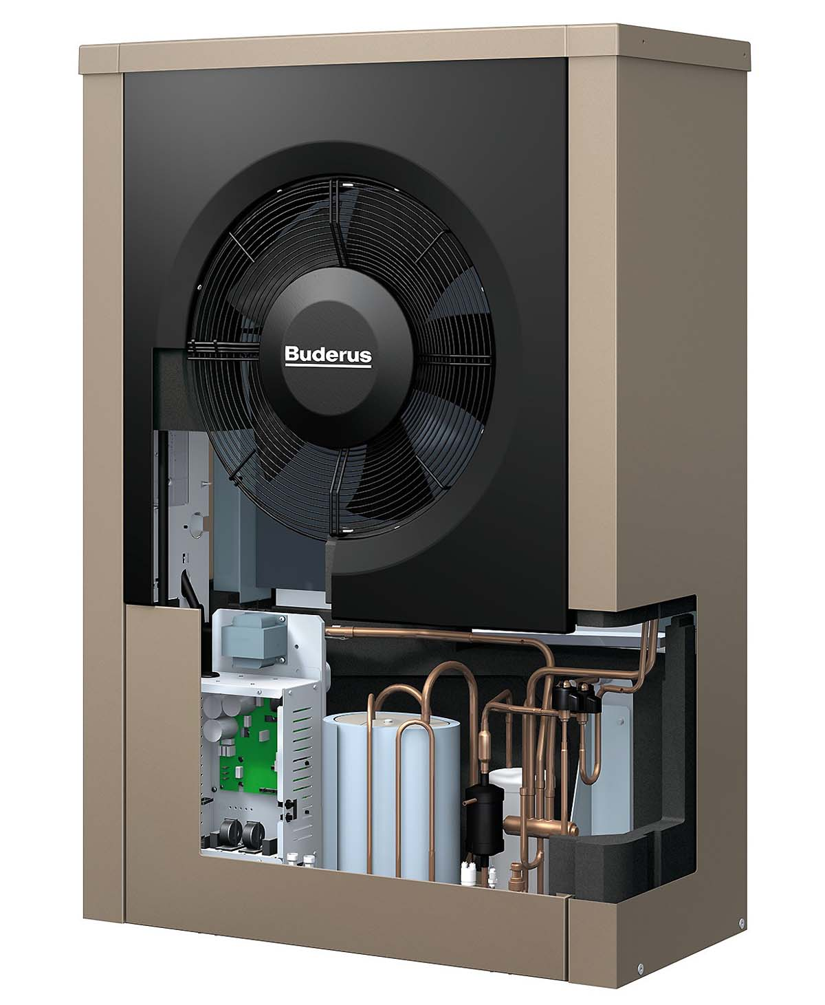 Теплові насоси повітря вода Buderus Logatherm WPL AR охолодження палення